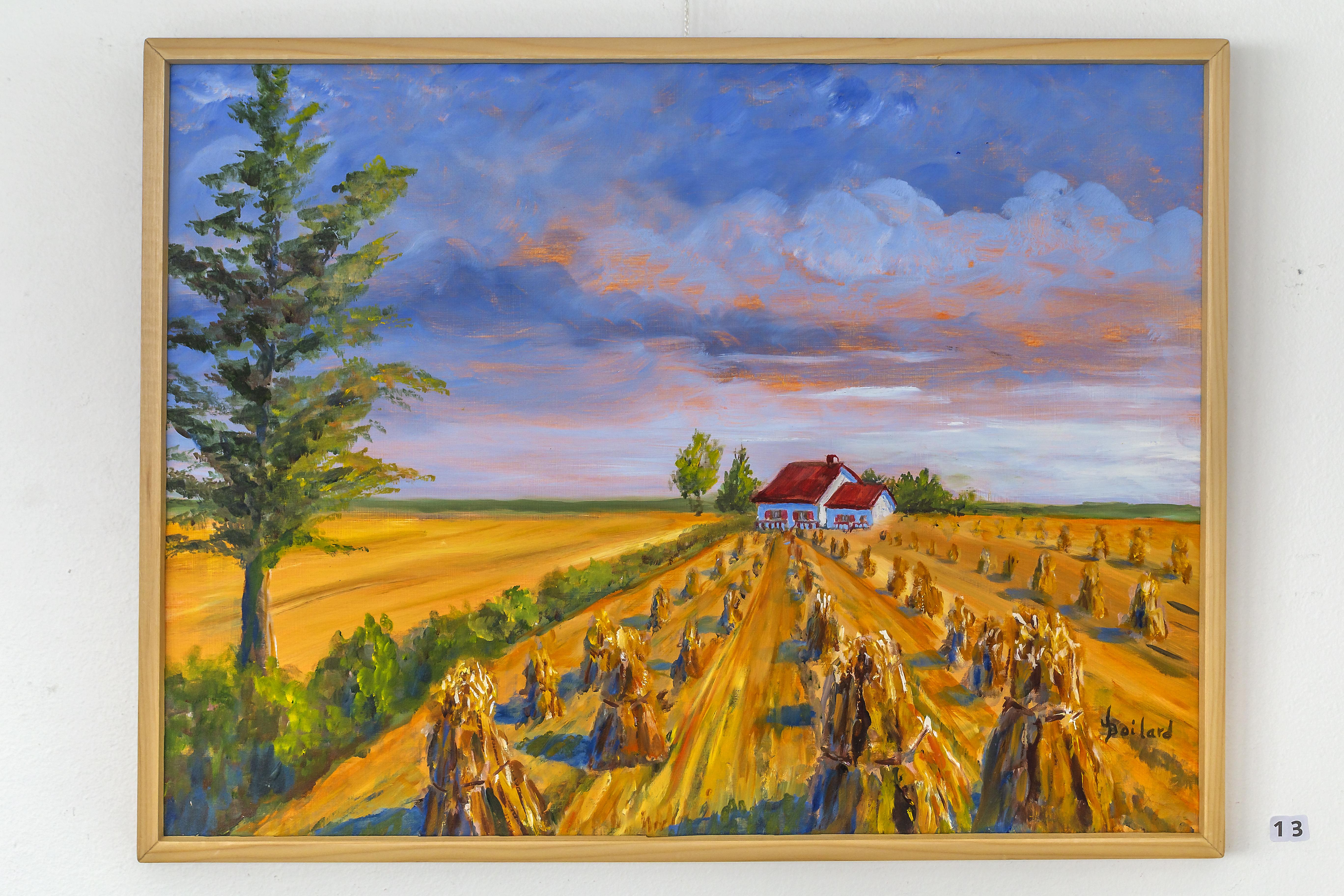 Champs de blé au Québec