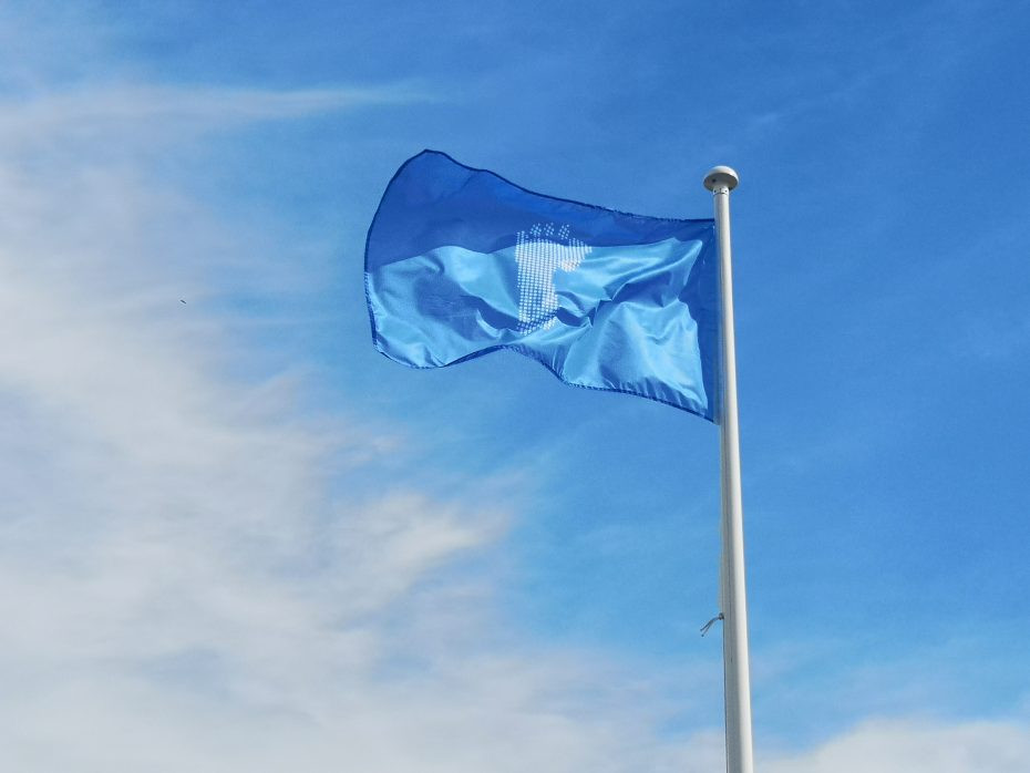 This blue flag is for Universal Declaration of Human Rights