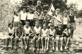 1958 Ausflug der TV-Kinder (Ruine Hombur