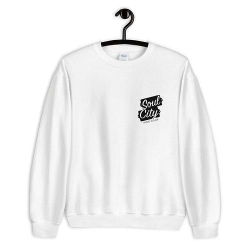 Soul City Music Co-op (#006) - White Unisex Sweatshirt