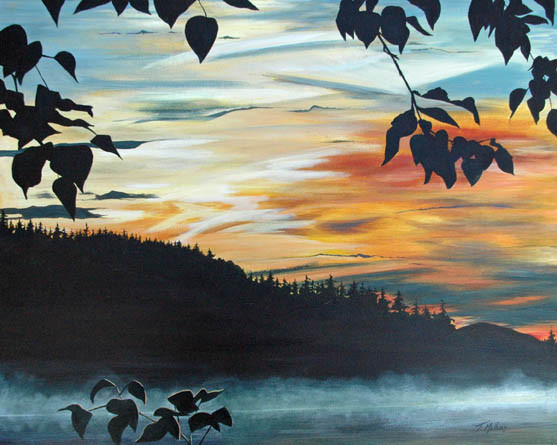 Sunset at Coeur d'Alene