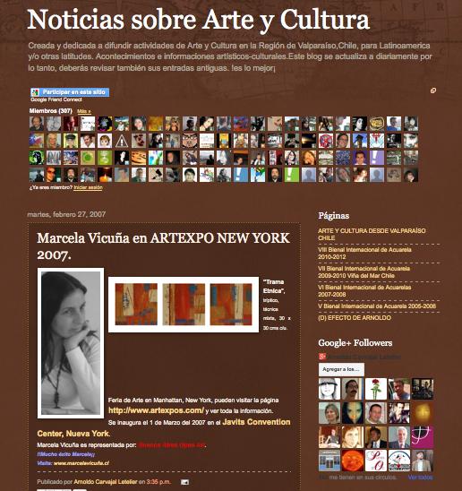NOTICIAS DE ARTE Y CULTURA