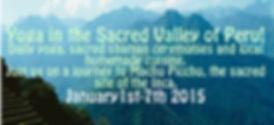 Peru Machu Picchu Yoga Retreat