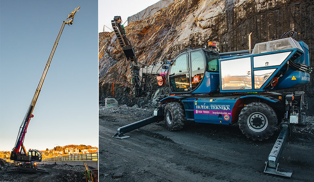 Høyde Teknikk AS sin Magni RTH 5.30 med boretårn (Foto: Chris Thomas Johansen)
