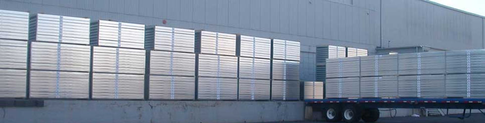 Loading Truck with Steel Panels