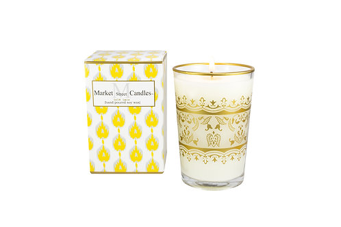 Gold Moroccan Tea Glass Candle, Citronella (6 pk)