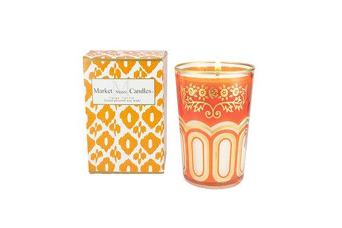 Orange Moroccan Tea Glass Candle, Citronella (6 pk)