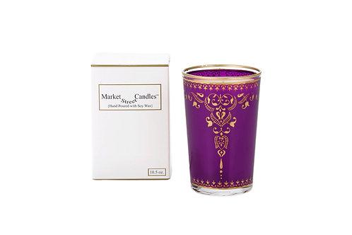 Purple Moroccan Tea Glass Candle, Bougainvillea (6 pk)