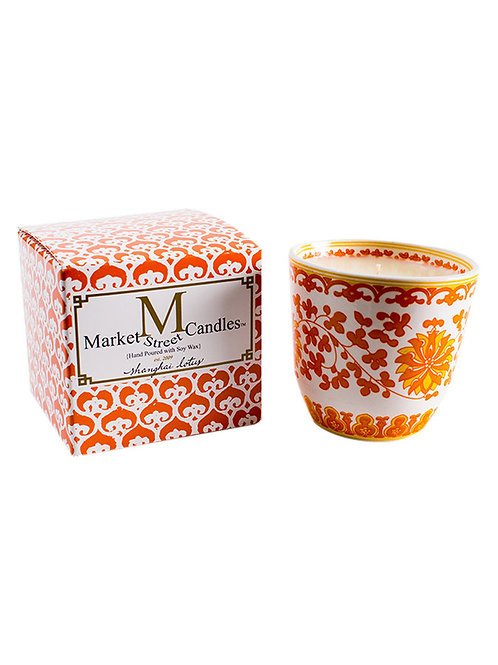 Orange Lotus Tea Cup Candle, Fig (6 pk)