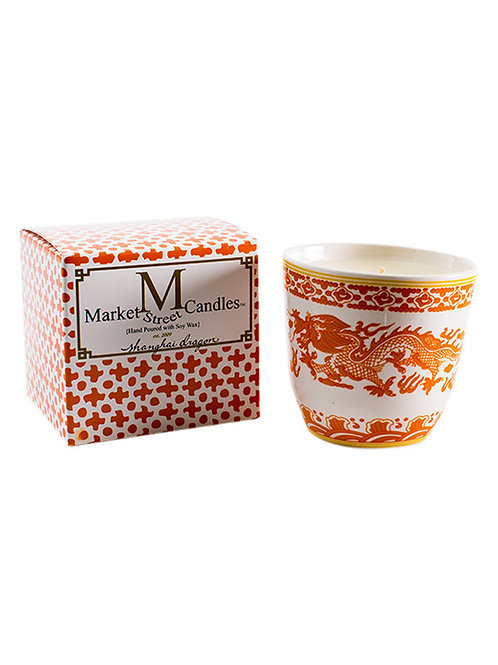 Orange Dragon Tea Cup Candle, Fig (6 pk)