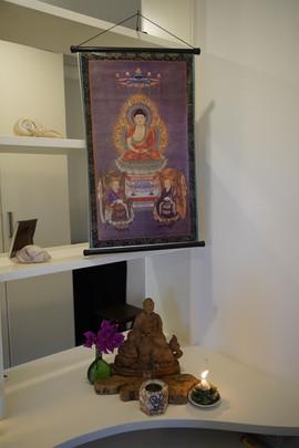 Altar durante o Sesshin do Grande Encontro, Búzios