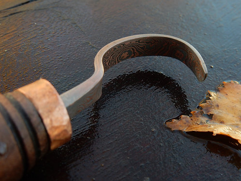 Spoon/Curved Knife Damascus
