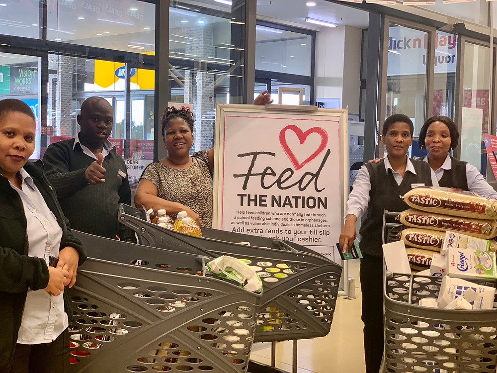 "OMF joined the Pick N Pay ""Feed The Nation"" collaboration to access more resources to reach more people."