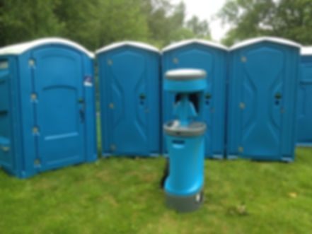 Portable toilets, portable sink