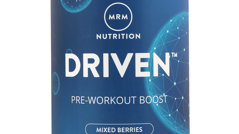 MRM, DRIVEN, Pre-Workout Boost, Mixed Berries, 350g