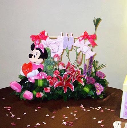 Flores para baby shower