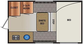 690FD Truck camper floorplan