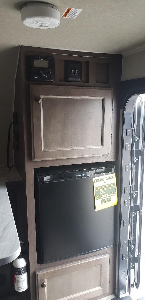 fridge and stereo