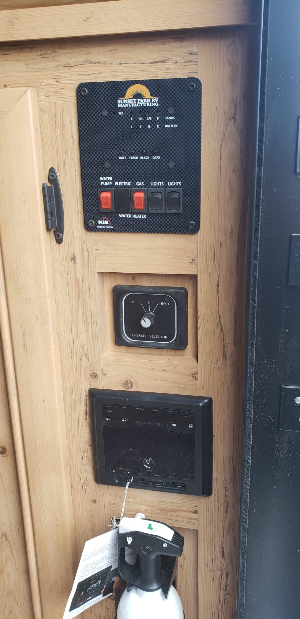 stereo and controls panel