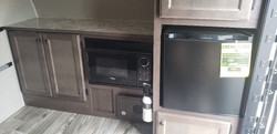 microwave and storage