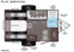 FL-14 travel trailer floorplan