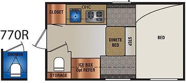 770R truck camper floor plan