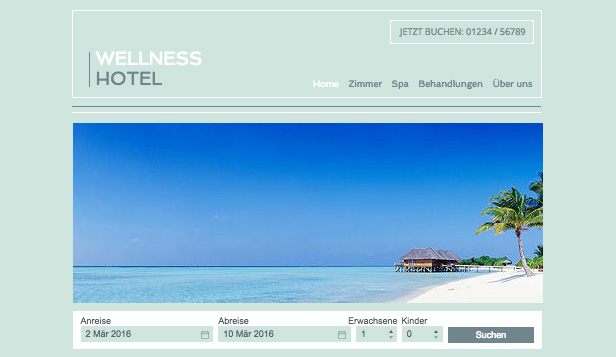 Hotels & Pensionen website templates –  Spa-Resort