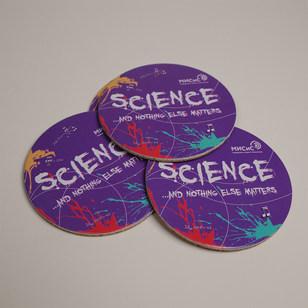 Подставка из пробки и картона Science 3