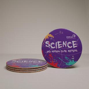 Подставка из пробки и картона Science