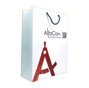 Бумажный пакет Alfacom
