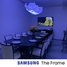 SAMSUNG The Frame in sala da pranzo