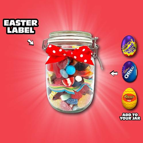 Easter Glass Sweet Jar 800g - 900g