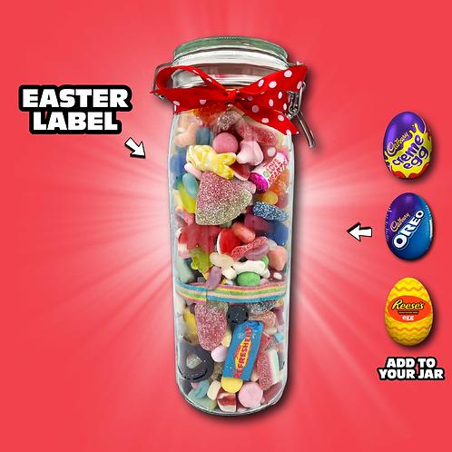 Easter Tall Glass Jar