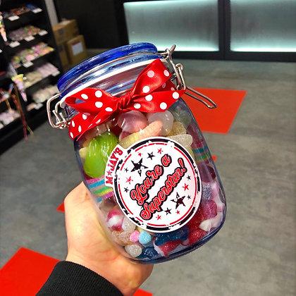 MJAYS Glass Sweet Jar 800g - 900g