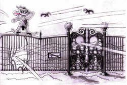 Cloudy rips heavens gate