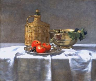 """""""Pommes"""" huile sur toile de Pierre Dominique LAFITTE. Peinture de 1993"""