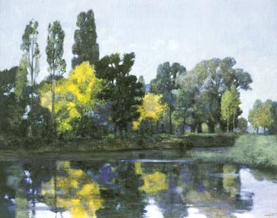 """""""reflets d'eau"""" de Pierre Dominique LAFITTE  fait echo à la vue de delft de Vermeer"""