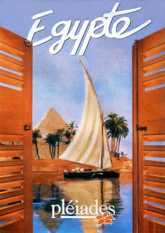 """""""Egypte""""  brochure hiver de voyage edition 1991 réalisée par Pierre Dominique Lafitte pour le tour opérateur Vacances Héliades"""