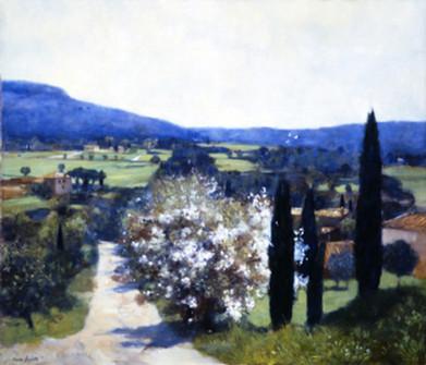 LE PRINTEMPS paysage  de Pierre Dominique LAFITTE