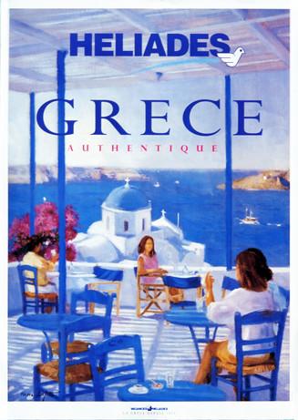 """""""Santorin"""" brochure de voyage réalisée par P.Dominique Lafitte en 1999 pour le tour opérateur Vacances Héliades."""