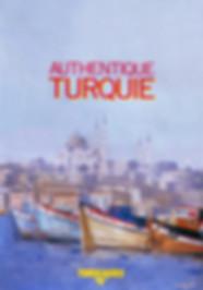 """"""" Turquie """" vue de Ste Sophie. Visuel réalisé par Pierre Dominique Lafitte pour la brochure hiver 1990 du tour opérateur de Vacances heliades"""
