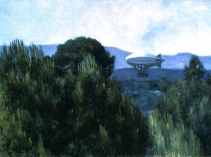 Le zeppelin tableau de Pierre Dominique Lafitte
