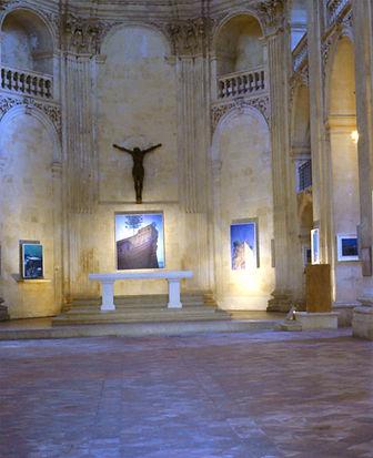 Exposition du peintre P.Dominique Lafitte à la Chapelle du Sacré Coeur à Aix en Provence en  Provence en 1983