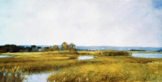 """""""Le Realtor"""" est un tableau de 1983 de Pierre Dominique Lafitte peint sur le motif à la manière impressionniste. Ce paysage servira de décor à """" Barrataria"""" une oeuvre de 1985, évoquant l'histoire du Corsaire Jean Lafitte caché dans les bayous de la Nouvelle Orléan."""