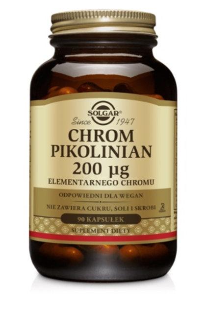 SOLGAR Chrom Pikolinian 200mcg 90Kaps