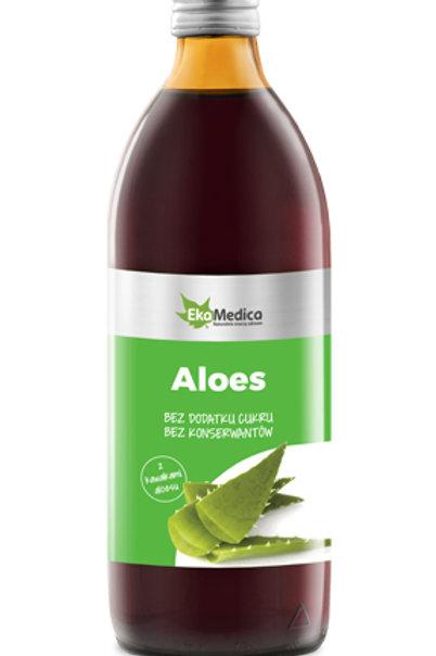 EkaMedica Aloes z miąższem 99,8% 0,5l