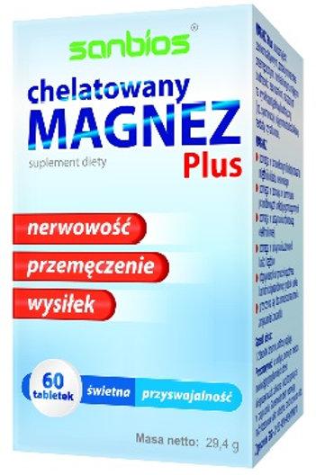 SANBIOS Magnez Plus 60 tabl.