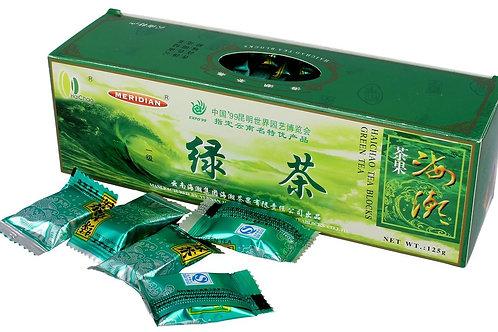 Herbata Zielona prasowana w kostkach 125g Chiny MERIDIAN