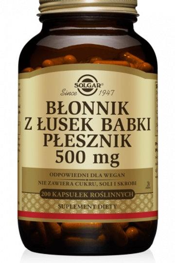 SOLGAR Błonnik z Łusek Babki Płesznik 500mg 200Kaps