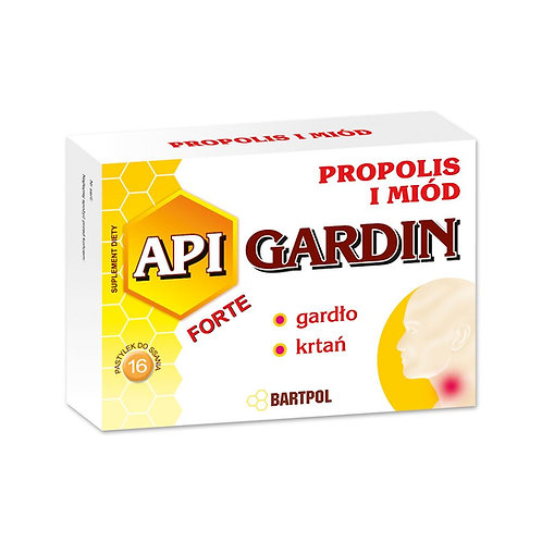 API-GARDIN propolis + miód 16past. BARTPOL
